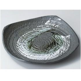 盛皿 グリーン刷毛目10.0皿 (業務用)/グループB