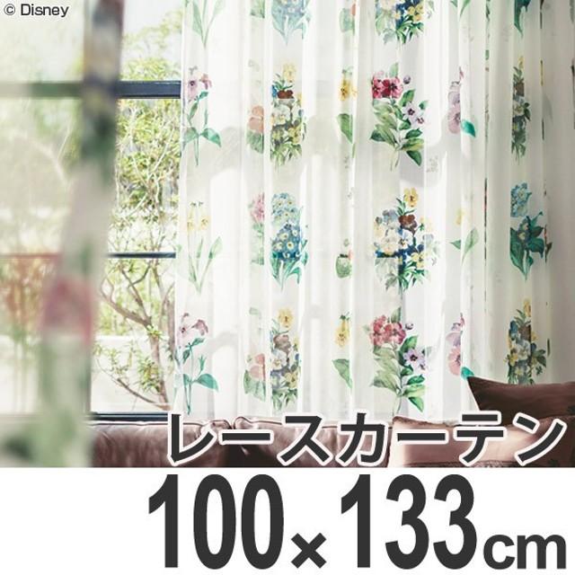カーテン レースカーテン スミノエ ミッキー アンティ−クフラワ− 100×133cm ( ディズニー ボイルカーテン レース )