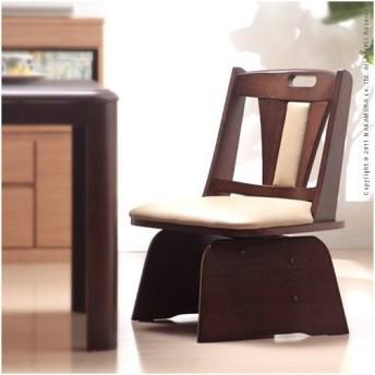 椅子 回転 高さ調節機能付き ハイバック回転椅子 〔ロタチェアプラス〕 木製