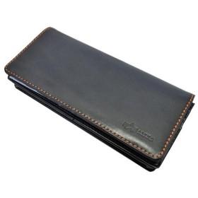 ALPHA イタリアンレザーシリーズ G4:ALPHA #40091 二つ折長財布 カラー【ブラック】