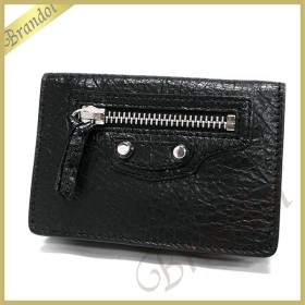バレンシアガ Balenciaga 財布 レディース 三つ折り財布 クラシック ミニ ウォレット レザー ブラック 477455 D940N 1000 [在庫品]