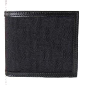 e4abb75fc003 グッチ 二つ折り財布 GUCCI メンズ GGキャンバス 二つ折り財布 バイフォルド ウォレット ブラック 237359 F4C7R