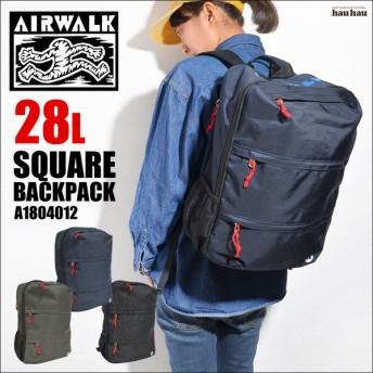 リュック 大容量 AIR WALK エアーウォーク 通学 高校生 おしゃれ 大容量 28L リュックサック 黒 通勤 メンズ レディース A1804012