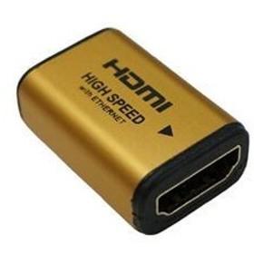 ds-1763587 (まとめ)HORIC HDMI中継アダプタ ゴールド HDMIF-027GD【×10セット】 (ds1763587)