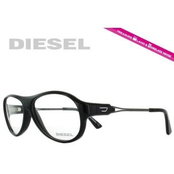 DIESEL ディーゼル フレーム 伊達 度付き 度入り メガネ 眼鏡 DL 5061 001 58/12 ブラック/クリア ティアドロップ メンズ レディース