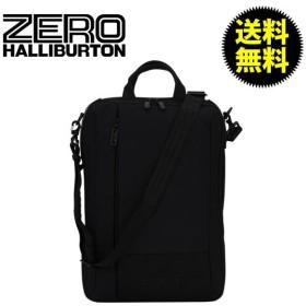 【5%還元】【あすつく】ZEROHALLIBURTON ARC アーク 3 Way Verticle Black ブラック 757-BK