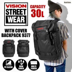 リュック VISION STREET WEAR ヴィジョン ストリート ウエア 30L バックパック 9377 黒 ブラック リュックサック 通学 通勤
