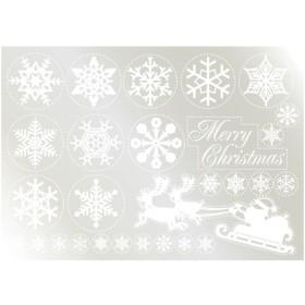 ウィンドウシール 雪の結晶(2) そり  のぼり屋工房/グループC