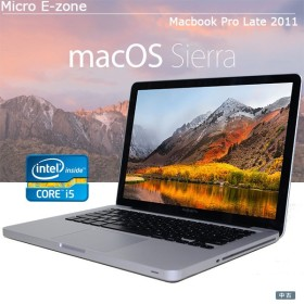 中古パソコン Apple(アップル) Core i5 MacBook Pro A1278 13-inch Late 2011 メモリ4GB 大容量750GB 8倍速SuperDrive Mac OS 10.12.6 Sierra JISキー