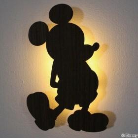 LEDライト ミッキーマウス ウォールライト WALLLIGHT DisneySeries ( LED 照明 壁掛け 足元灯 フットライト 音感 センサー )