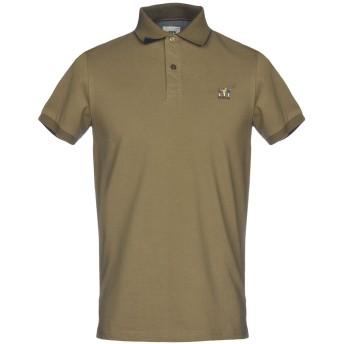 《9/20まで! 限定セール開催中》HENRY COTTON'S メンズ ポロシャツ ミリタリーグリーン S 100% コットン