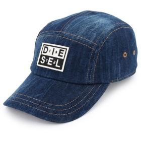 DIESEL ディーゼル 00SW24 0CARD CHANNEL-D HAT 5パネル ロゴパッチ デニムキャップ ジェットキャップ 帽子 カラー01/インディゴブルー 10584