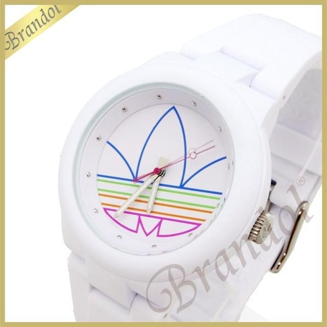 da7b0b9e91 アディダス adidas レディース腕時計 アディダスオリジナルス ABERDEEN アバディーン 40mm ホワイト ADH3015