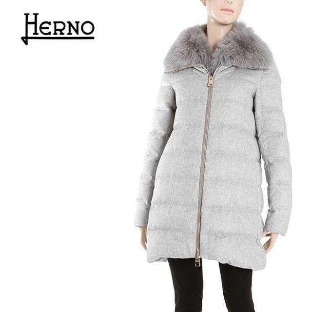 HERNO ヘルノ レディース PI0379D 38087 カシミヤ カシミアシルク フォックスファー付き Aライン ダウンコート ダウンジャケット カラー9410 429840