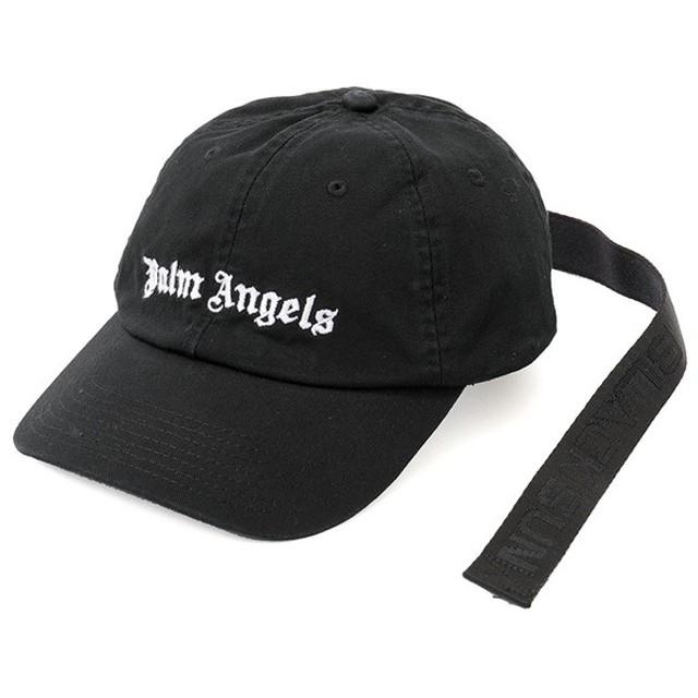 Palm Angels パームエンジェルス PMLB005S 18224050 TAPE CAP ベースボールキャップ ロゴ刺繍 帽子 カラー1001/BLACK メンズ