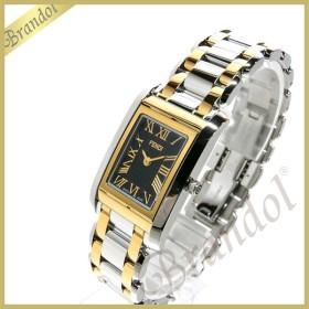 フェンディ FENDI レディース腕時計 ループ レクタングル ブラック×シルバー×ゴールド F776210 [在庫品]