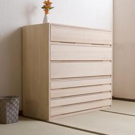 桐タンス 7段 桐収納 日本製 白木仕上げ 幅100cm ( 桐たんす 桐 箪笥 タンス 着物収納 着物 収納 和たんす 和室 )