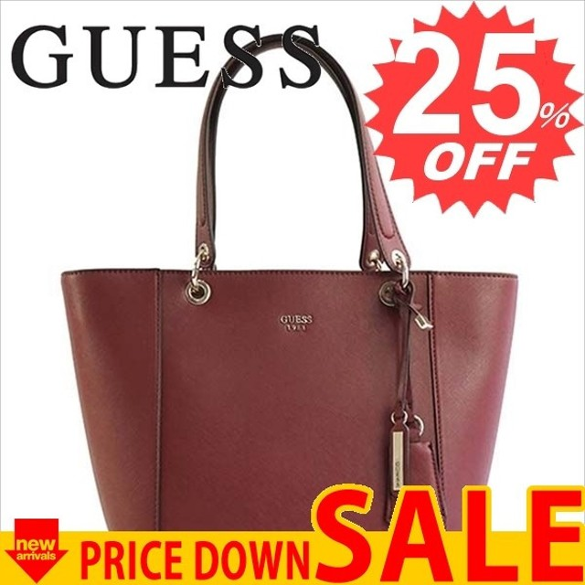 703cefe9b8 LINE ショッピング. ゲス バッグ トートバッグ GUESS KAMRYN VG669123 TOTE BOR BORDEAUX VG  SAFFIANO PVC 比較対照価格
