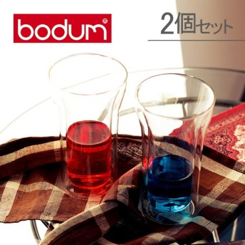 Bodum ボダム アッサム ダブルウォールグラス 2個セット 0.4L Assam DWG 4547-10US Double Wall Cooler set of 2 クリア 北欧