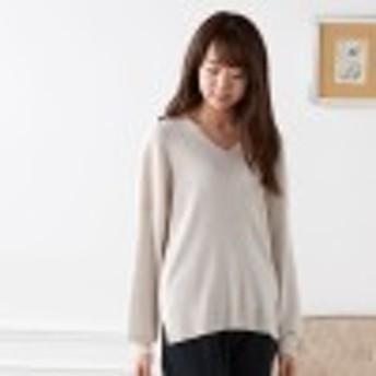 【62%OFF】大人の女性のためのきれいめお袖ふんわりニット【S~3L】