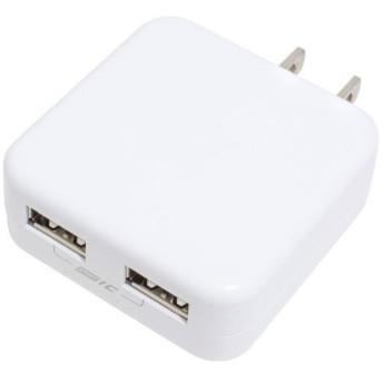 京ハヤ 2ポート搭載USB充電器 ホワイト JKIQ2400EDWH [JKIQ2400EDWH]
