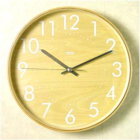 【送料無料】 plywood clock(時計) L ホワイト
