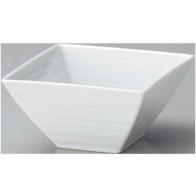 鉢 正角鉢12cm白 10個入(業務用)/グループB