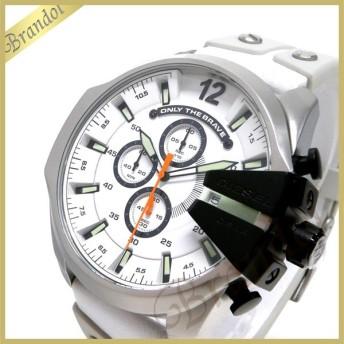 ディーゼル DIESEL メンズ 腕時計 Mega Chief メガチーフ クロノグラフ 52mm ホワイト DZ4454 [在庫品]