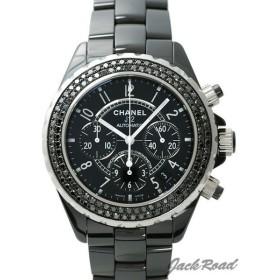 シャネル CHANEL J12 オートマティック クロノグラフ ブラックダイヤベゼル H1010 【新品】 時計 メンズ