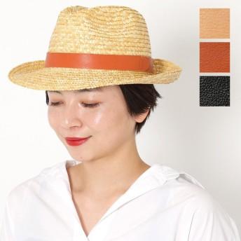 ILBISONTE イルビゾンテ H0580 P VACCHETTA ストローハット 麦わら 帽子 レザーリボン サイズ/57 カラー3色 レディース