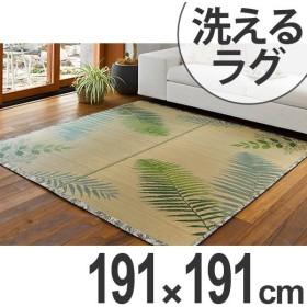 ラグ 洗える い草 ボタニカ 約191×191cm 約2.5畳 ( い草ラグ い草マット い草カーペット )