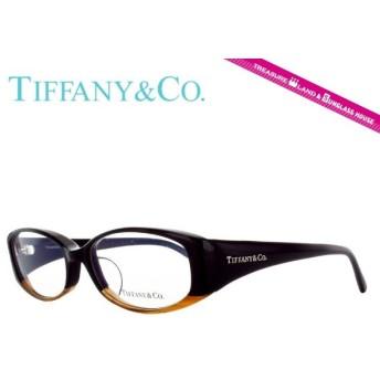 ティファニー フレーム 伊達 度付き 度入り メガネ 眼鏡 TIFFANY&Co. TF2039 8121 52 ブラック ライトブラウン/クリア オーバル レディース 国内正規品