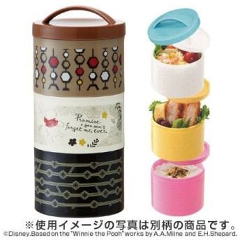 ■在庫限り・入荷なし■お弁当箱 ボトル型ランチボックス 3段 くまのプーさん 480ml