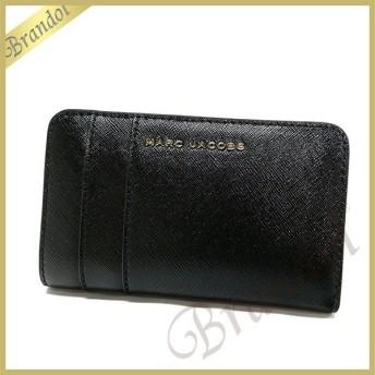 マークジェイコブス MARC JACOBS 財布 レディース 二つ折り財布 サフィアーノ レザー ブラック×パープル M0012050 592 BLACK/BERRY [在庫品]