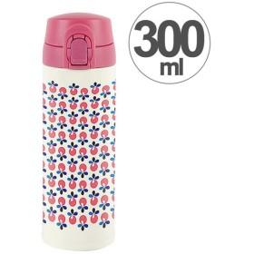 水筒 ワンプッシュマグボトル 保冷 保温 北欧 KEEP マイボトル 300ml リンゴベリー ( ステンレス 保冷保温 ステンレス製 )
