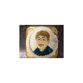 お一人様似顔絵ケーキ直径12cm2-3名様サイズ