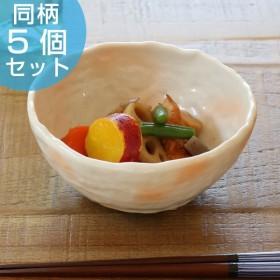 三つ足小鉢 和食器 御本手風 変形皿シリーズ 美濃焼 日本製 磁器 同柄5個セット ( 食器 皿 和皿 食洗機対応 和風 電子レンジ対応 )