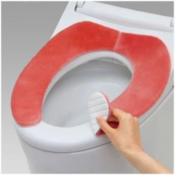 【ポイント最大17倍】吸着便座シート 吸湿発熱 モコモコ 抗菌防臭 ピンク ( べんざシート 置くだけ トイレ用品 )