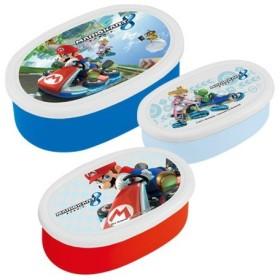 お弁当箱 保存容器 シール容器 マリオカート8 3個入 子供用 キャラクター ( 弁当箱 ランチボックス スーパーマリオ )