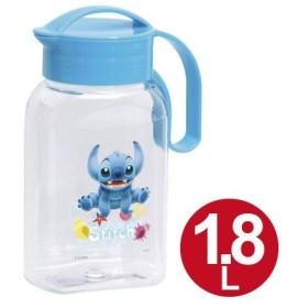 冷水筒 クリアピッチャー スティッチ 1.8L ( ピッチャー 冷水ポット 麦茶ポット 水差し キャラクター )