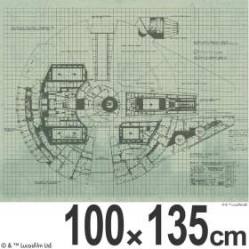 ■在庫限り・入荷なし■スターウォーズ カーテン 遮光 ミレニアムファルコン 100×135cm ( 形状記憶 スミノエ ドレープカーテン )