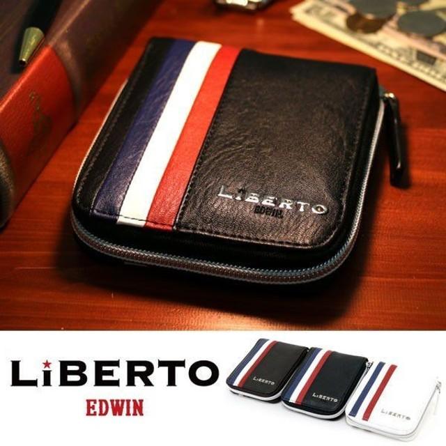 85cc14cb7265 財布 メンズ 財布 レディース 二つ折り財布 革 合成皮革 レザー サイフ さいふ 小銭入れ LiBERTO