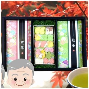 鈴木園 SZK-10002138 【のし・包装可】狭山茶(草印100g・桃印100g) 和三盆19ピース (SZK10002138)