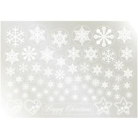 ウィンドウシール 雪の結晶(1) 白  のぼり屋工房/グループC