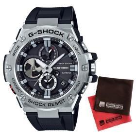 (セット)(国内正規品)(カシオ)CASIO 腕時計 GST-B100-1AJF (ジーショック)G-SHOCK メンズ ソーラー&クロス2枚(メール便不可)