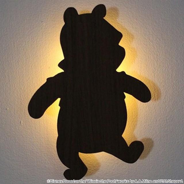LEDライト ウォールライト くまのプーさん WALLLIGHT DisneySeries ( LED 照明 壁掛け 足元灯 フットライト 音感 センサー )
