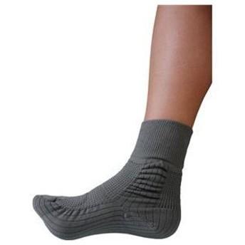 ds-1912800 (業務用2セット) 蘭花 転倒予防靴下アガルーノ グレー23-24cm (ds1912800)