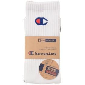 (セール)Champion(チャンピオン)メンズスポーツウェア その他カジュアルアパレル フルレングスチューブソックス2P CMSBJ003 M ホワイト