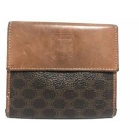 bbf59b4b16ef セリーヌ CELINE Wホック財布 レディース - ダークブラウン×ブラウン PVC(塩化ビニール)