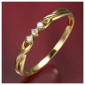 ds-506978 K18ダイヤリング 指輪  デザインリング 15号 (ds506978)